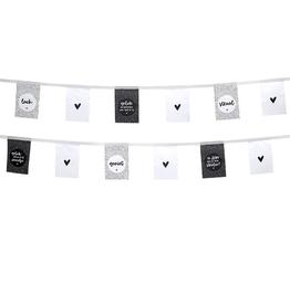 Zoedt Buitenvlaggetjes zwart wit stippen patroon en teksten - Zoedt
