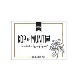 "100% Leuk Kruiden ""Kop of Munt Thee"" - 100% Leuk"