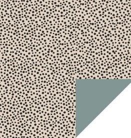 House of Products Inpakpapier Black Dots Beige Dubbelzijdig 70cmx3m