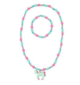 Souza! Ketting + armband Eenhoorn roze-mint groen - Souza