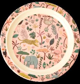 Rice Bord rond 22cm Jungle roze - Rice