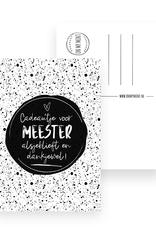 On My Mint Kaart voor Meester - On My Mint