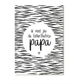 """Zoedt Cadeaukaartje """"Ik vind jou de Allerliefste Papa"""" - Zoedt"""