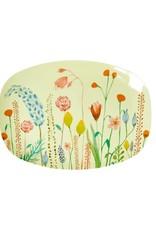 Rice Bord ovaal Melamine met bloemen Print small - Rice