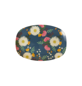 Rice Bord ovaal Melamine met Bouquet Print small - Rice