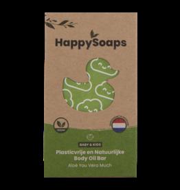 HappySoaps Baby & Kids Body Oil Bar Aloë You Vera Much - HappySoaps