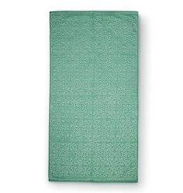 Pip Studio Handdoek Tile de Pip 55x100cm groen - Pip Studio