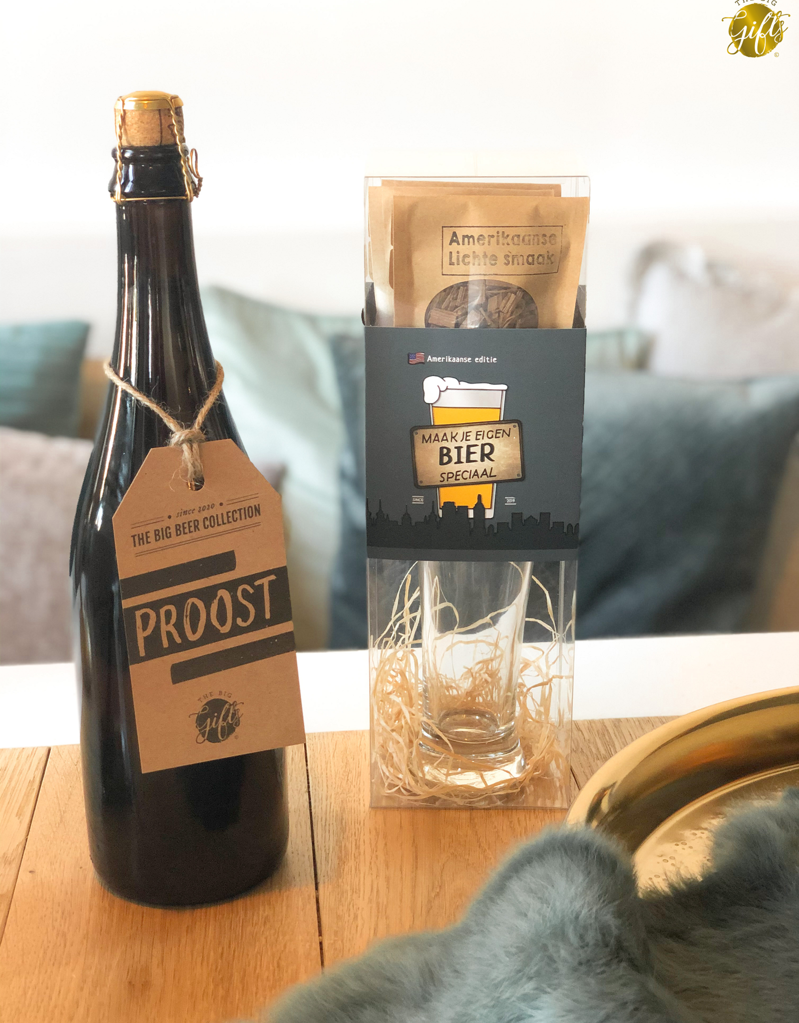 """The Big Gifts XL Bierfles """"Proost"""" - The Big Gifts"""