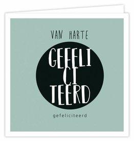 Van Harte Gefeliciteerd - Wenskaart Suus