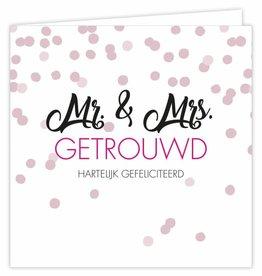 Mr. & Mrs. Getrouwd - Wenskaart Suus