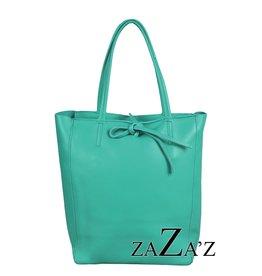 Shopper Turquoise leer - ZaZa'Z
