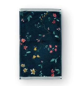 Pip Studio Gastendoekje Les Fleurs 30x50cm d.blauw - Pip Studio
