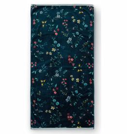 Pip Studio Handdoek groot Les Fleurs 70x140cm d.blauw - Pip Studio