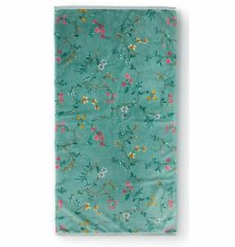 Pip Studio Handdoek groot Les Fleurs 70x140cm groen - Pip Studio
