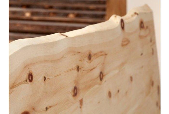 4,5 centimeter massief zirbenhout - fijn geslepen en lucht gedroogd