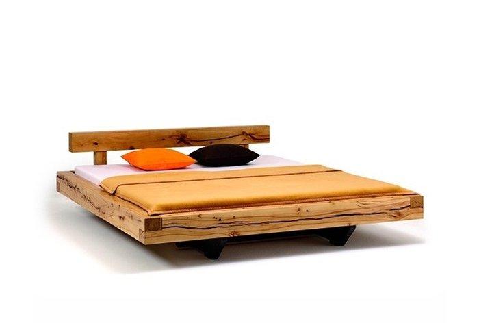 Massief houten bed Lans (hout: kernbeuken)