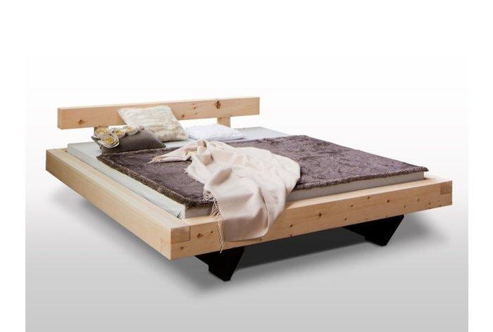 Massief houten bed Lans (hout: zirben / alpenden / zirbe) - hoofdbord type 1