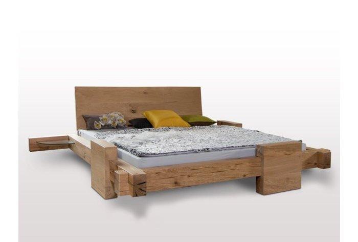 Massief houten bed Mellau (hout: moeras eiken)