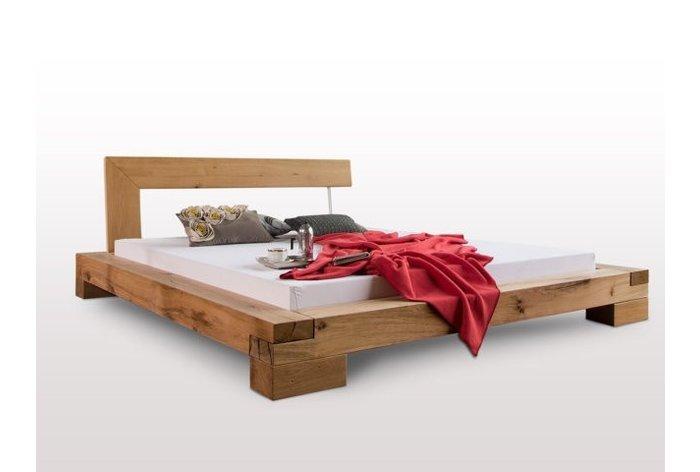 Massief houten bed Bizau (hout: moeras eikenhout)