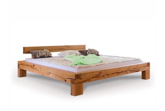 Massief houten bed Herisau (hout: kernbeuken)