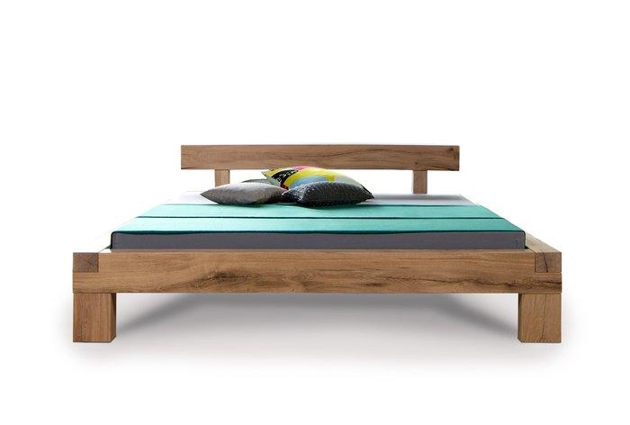 Massief houten bed Herisau (hout: moeraseik)