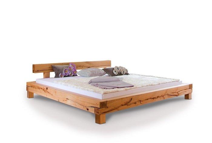 Massief houten bed Herisau II (hout: kernbeuken)