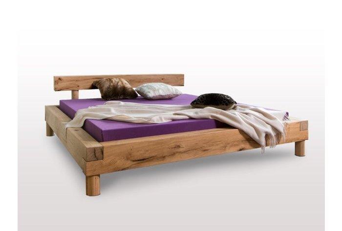 Massief houten bed Appenzell (hout: moeraseik)