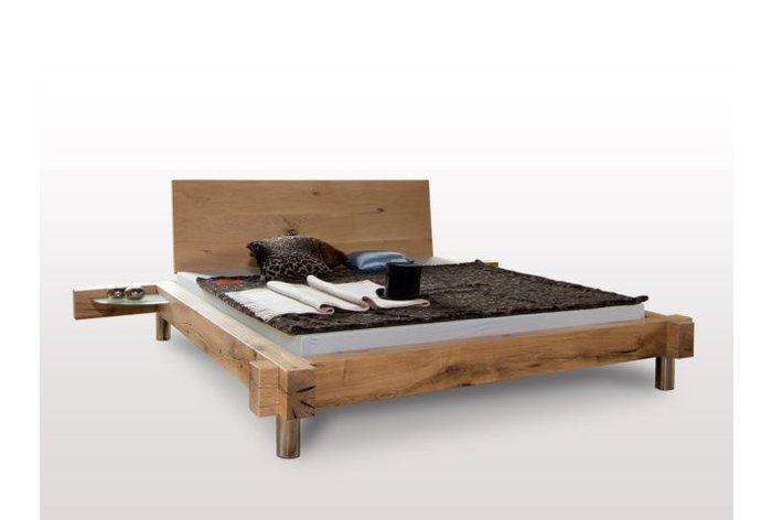 Massief houten bed Appenzell II (hout: moeraseik)