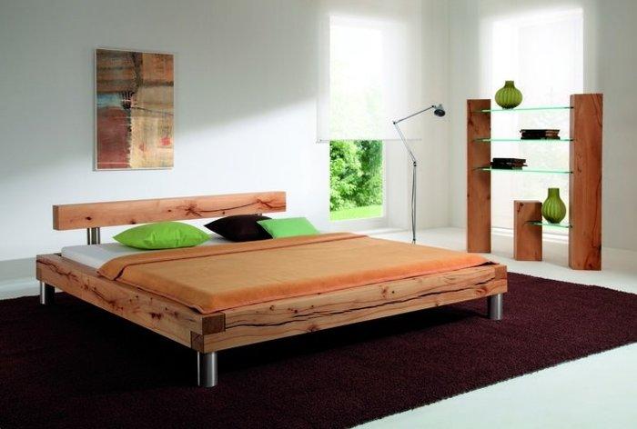 Massief houten bed Marbach (hout: kernbeuken)
