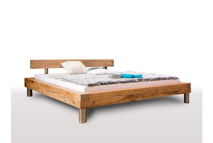 Massief houten bed Marbach (hout: moeraseik)