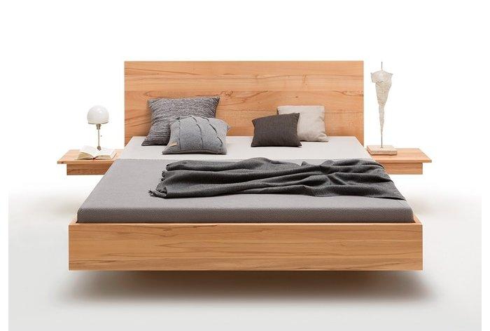 Vooraanzicht bed Doetinchem (hout: kern beukenhout) in 180 x 200