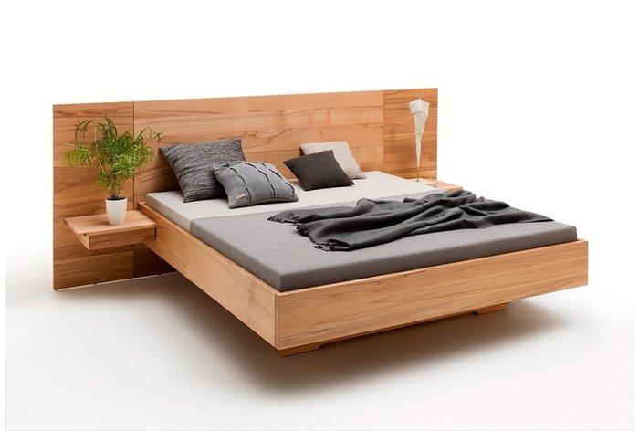 Massief houten bed Roermond (hout: kernbeuken)