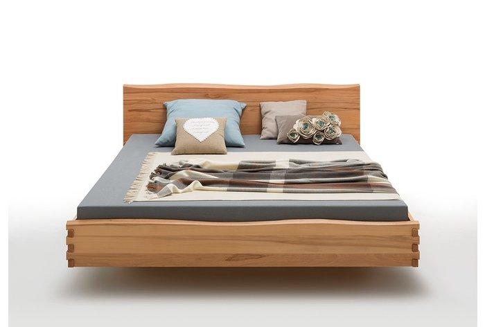 Vooraanzicht bed Amersfoort (hout: kernbeuken) - prachtig design