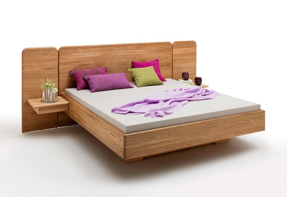 Verwonderend Massief zwevend eiken houten bed met breed hoofdbord | Zutphen DK-39