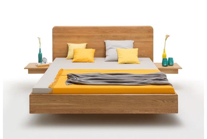 180 x 200 versie in wild eiken met aanhang nachtkastjes (tegen meerprijs)
