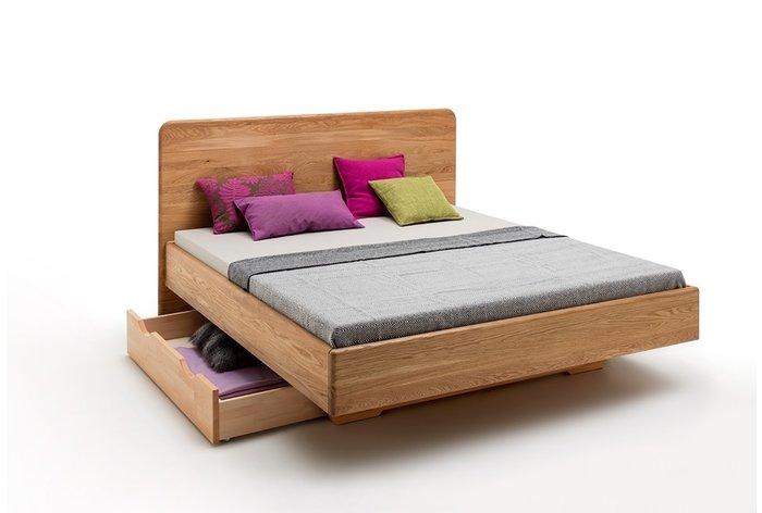 Zwevend houten bed Brussel - opberglade tegen meerprijs verkrijgbaar