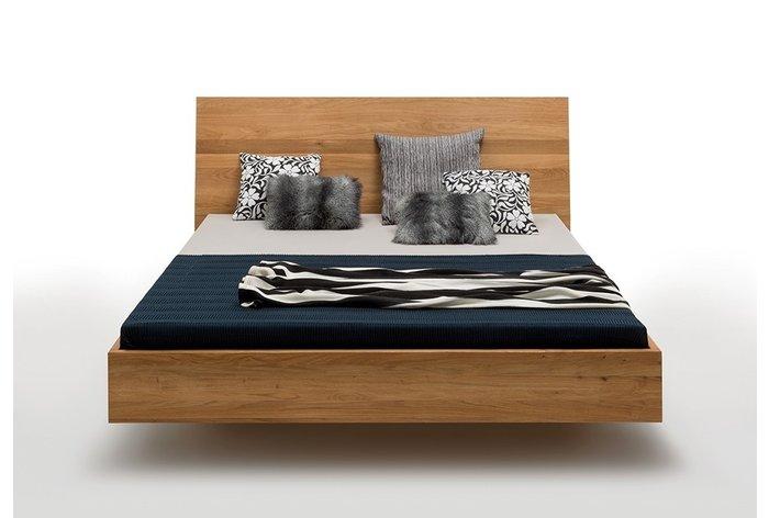 Vooraanzicht bed Leuven - Prachtig design en met mooi hoog hoofdbord