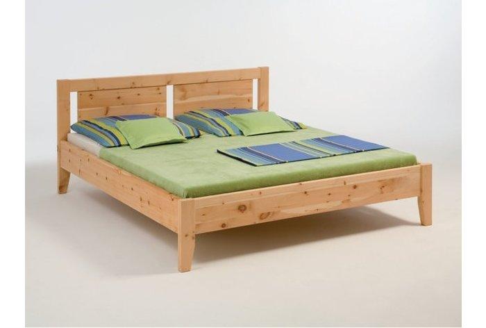 Massief houten bed Katwijk (hout: zirben, onbehandeld)