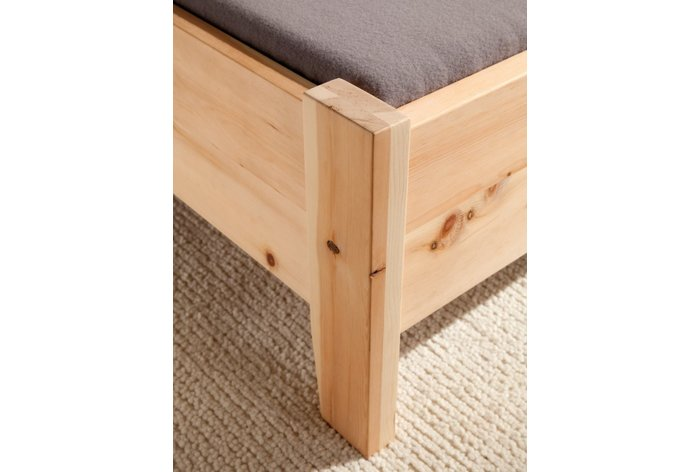 Massief hout en metaalvrije constructie (hout: zirben, onbehandeld)