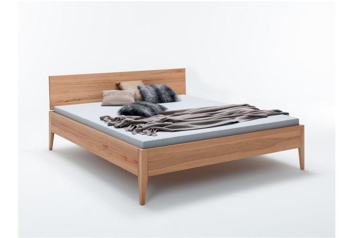Scandinavische en minimalistische stijl   Massief kernbeuken bed Lund   Alle afmetingen verkrijgbaar   3 cm dik hout, 44 cm hoog