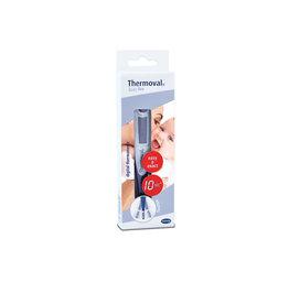 Thermoval Le thermomètre électronique fiable et précis pour une mesure simple, rapide et encore plus confortable de la température. Avecemboutsoupleet flexible, adaptéauxenfantsde moinsde 3 ans.