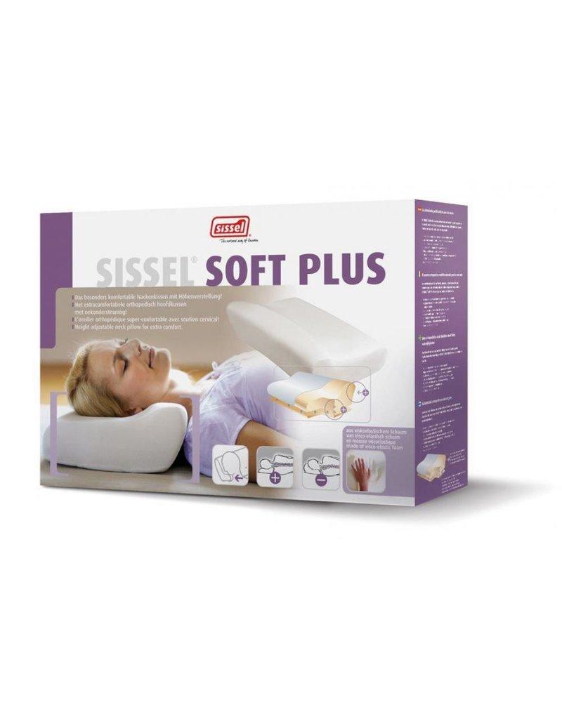 Sissel SISSEL® SOFT PLUS Oreiller visco-élastique + taie en velours