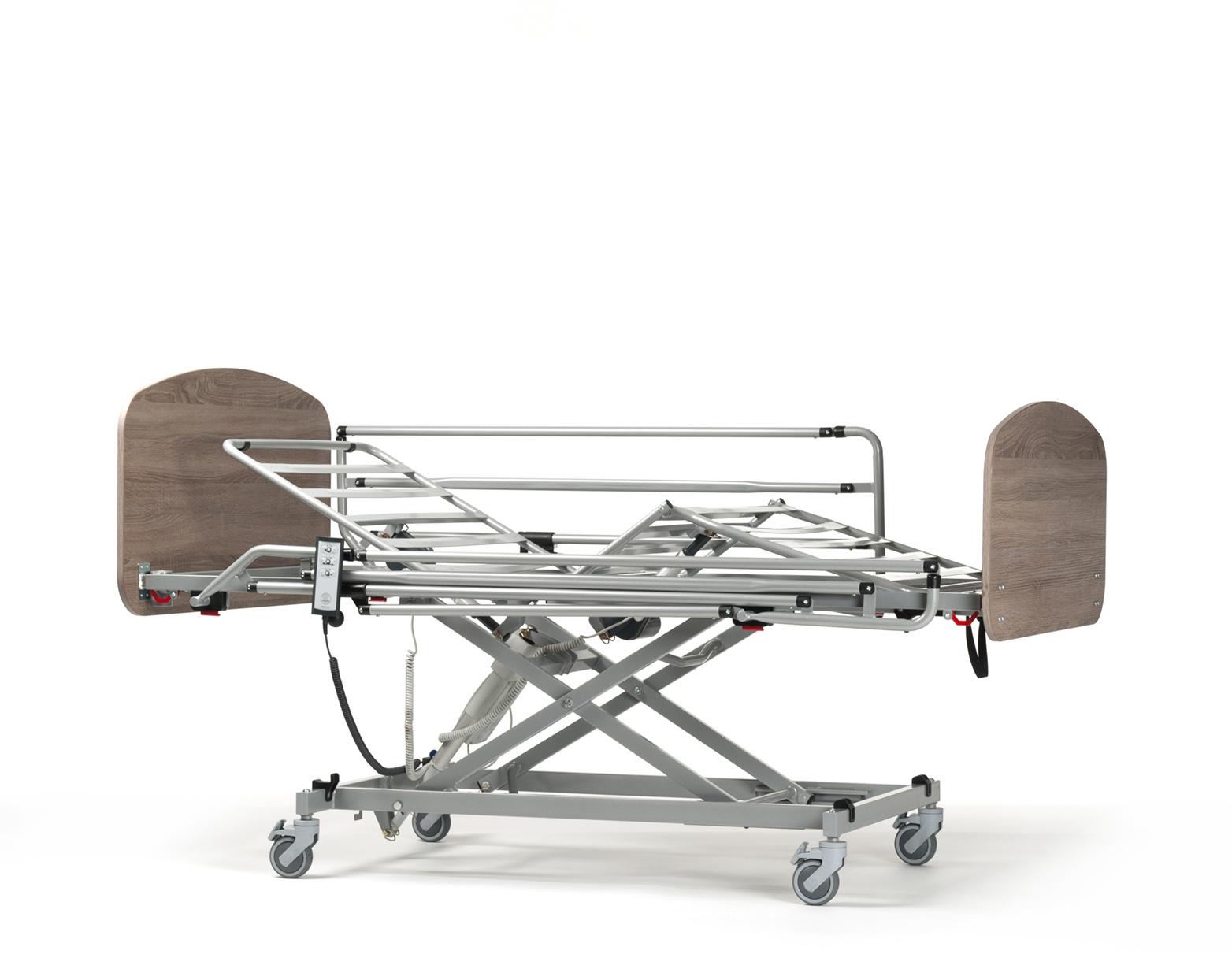 Illico elektrisch hoog-laag bed incl. onrusthekkens en zelfoprichter