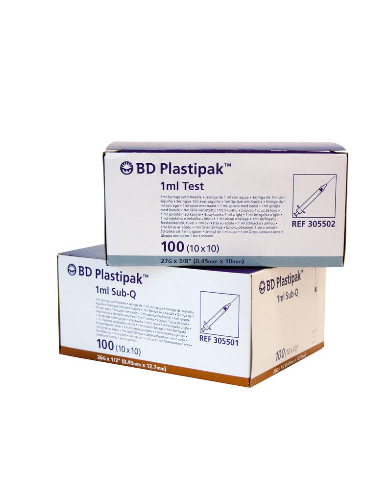 BD BD Plastipak™ Precisiespuit - 1 ml  met  geïntegreerde naald