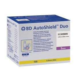 BD -Aiguille de sécurité à stylo BD AutoShield™ Duo 5mm – 100pcs