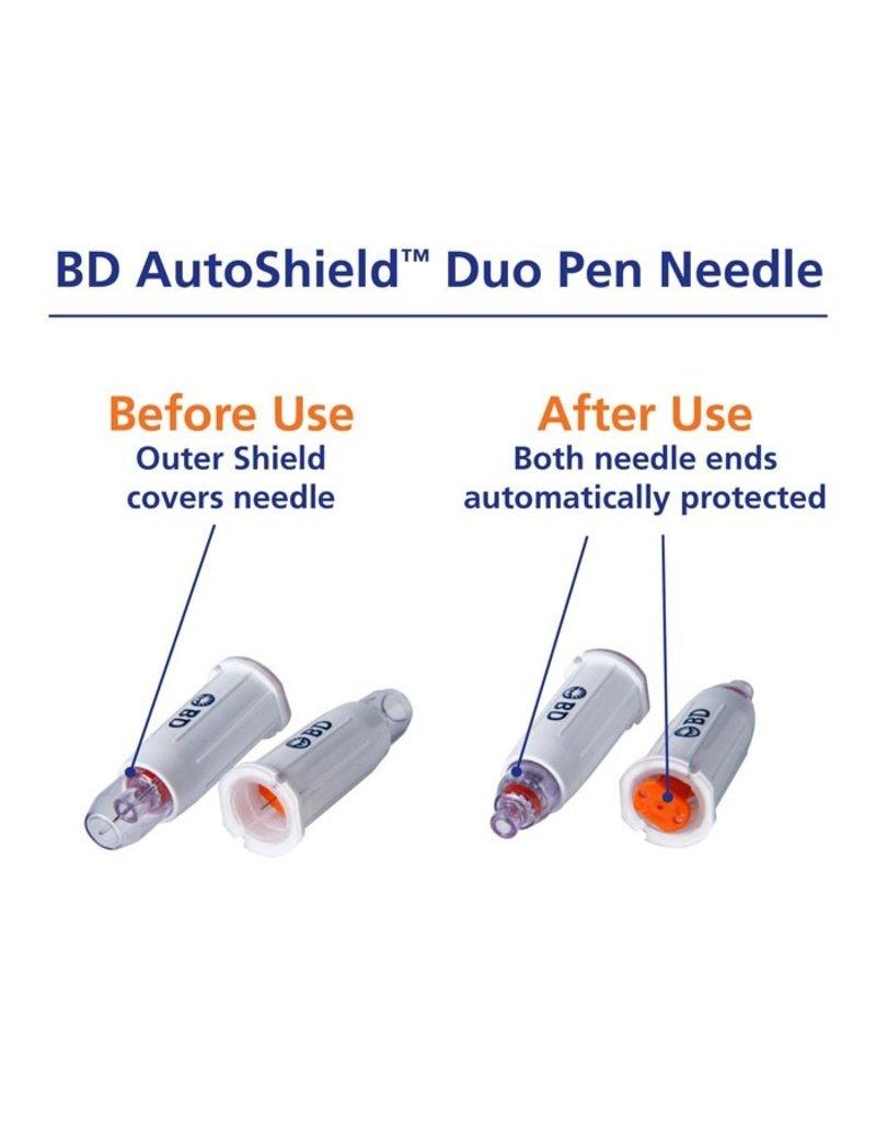 BD -BD AutoShield™ Duo Veiligheidspennaald – 100 stuks