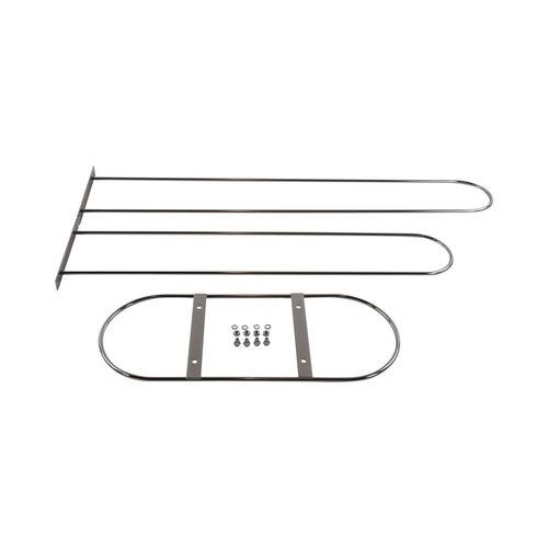 Verzamelrek kledinghangers - Verchroomd - ø 7 mm