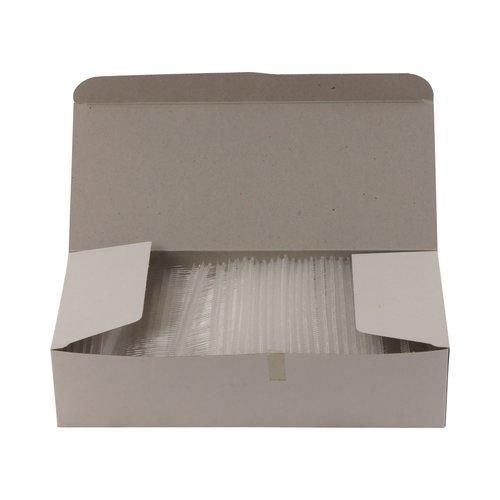 Riddersporen polypropeen - Fijn - 40 mm á 5000 stuks - Wit