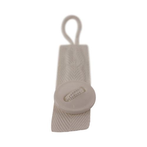 Knoopsluiting 16 cm - Wasnetsluiting met knop - Wit