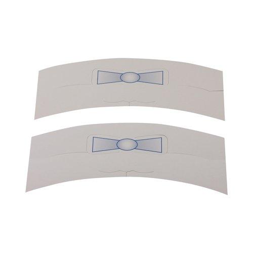 Kraagband karton - Kraagsteun voor overhemden met strik - Wit - 1000 stuks